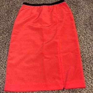 coral pencil skirt